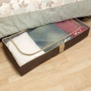 Household Essentials 66062 Coffee Linen Underbed Chest