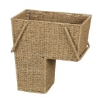 Household Essentials ML-5647 Seagrass Stair Basket With Handles