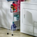 Household Essentials White Slimline 3 Shelf Utility Cart 05121