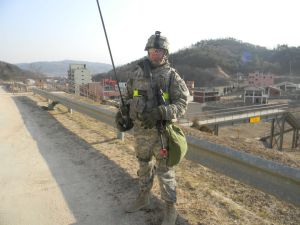 Micah Ambrose on patrol in Korea