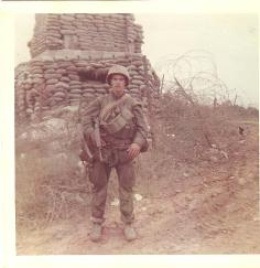 My dad in his full gear in Viet Nam