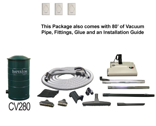 All In One Imperium Central Vacuum Package