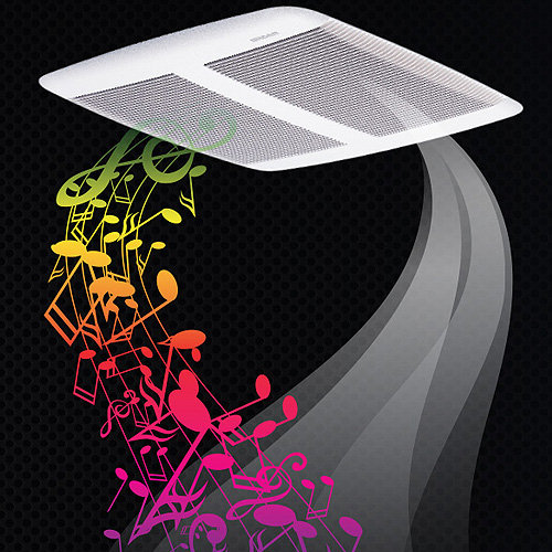 Broan Sensonic Fan With Speaker Spk110 Central Vacuum Stores